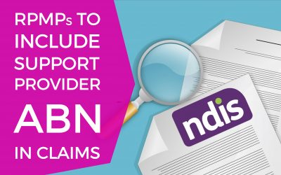 RPMPs TO INCLUDE PROVIDER ABN IN CLAIMS